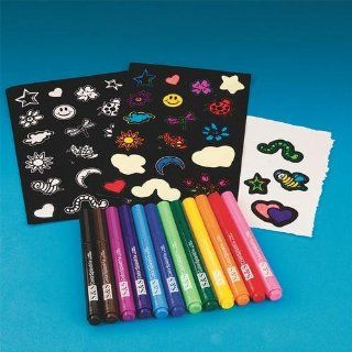 Velvet Art Stickers Craft Kit (Makes 12): Toys & Games