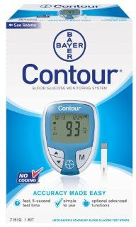 Bayer's Contour  Blood Glucose Monitoring System Health & Personal Care