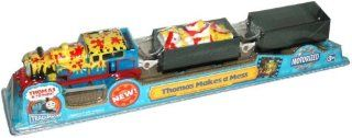Trackmaster Road and Railway System   Thomas and Friends Motorized Road and Rail Battery Powered Tank Engine : Thomas Makes A Mess with Thomas the Tank Engine, Paint Barrel Loaded Troublesome Truck and Empty Troublesome Truck: Toys & Games