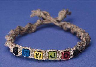 WWJD? Beady Braids Bracelet Craft Kit (Makes 30): Toys & Games
