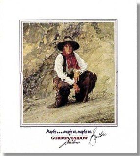 Gordon Snidow   MaybeMaybe So, Maybe No   Cowgirl Print