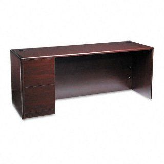 HON Products   HON   10700 Series Left Pedestal Credenza, 72w x 24d x 29 1/2h, Mahogany   Sold As 1 Each   A modular management solution that combines stylish profiles and elegant accents with top grade fit and finish.   High pressure laminate with rounded
