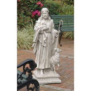 Design Toscano Jesus The Good Shepherd Garden Statue   Garden Statues