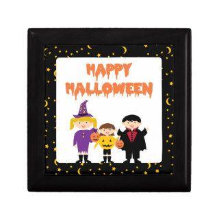 Happy Halloween Cute Trick or Treat Kids Keepsake Boxes