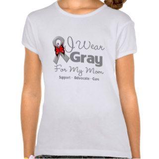 Mom   Gray Ribbon Awareness Tshirts