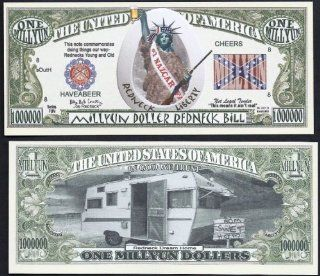"""Redneck """"Liberty"""" Novelty $Million Dollar Bill Collectible : Other Products : Everything Else"""