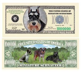 SET OF 100 BILLS MINI SCHNAUZER MILLION DOLLAR BILL Toys & Games