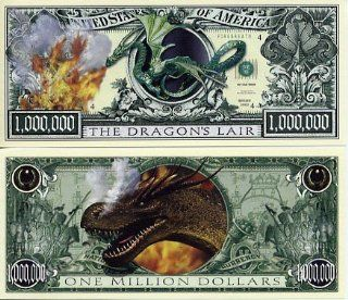 DRAGON MILLION DOLLAR BILL (w/protector): Everything Else