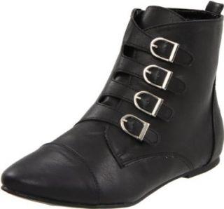 Miss Me Women's Emmah 9 Motorcycle Boot, Black, 5.5 M US Shoes