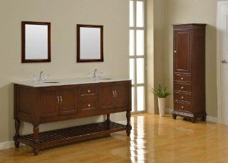 Bathroom Vanities 70 Inch with Top and Sink 70 Inch Bathroom Vanity with Top 70 Inch Double Sink Bathroom Vanity Cabinet in an Espresso Finish and a Carrera White Marble Top