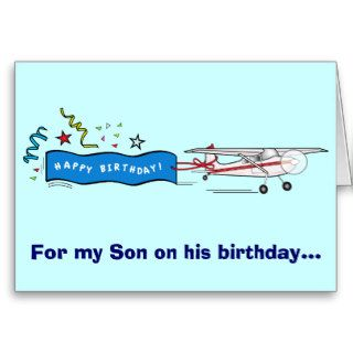 Happy Birthday Son Airplane Greeting Cards