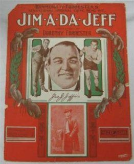 Boxer James Jim Jeffries 1909 Jim a da jeff Sheet Music   Boxing Bedding: Sports & Outdoors