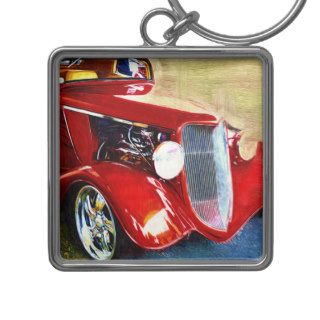 Red Beauty   Classic Collector's Car Key Chains