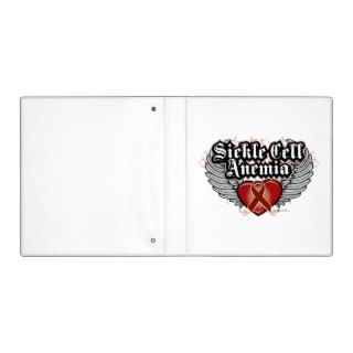 Sickle Cell Anemia Wings Vinyl Binders