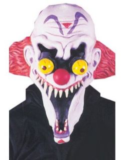 Freaker Shrieker Clown Mask Halloween Costume   Most Adults: Clothing