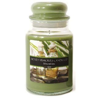 Mostly Memories Mineral Spa 28 Ounce Lid Lites Soy Candle   Jar Candles