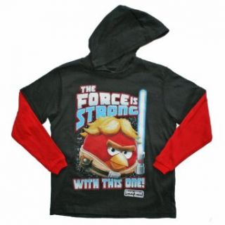 Angry Birds Star Wars the Force Is Strong Boys Hooded T Shirt (6/7) Clothing