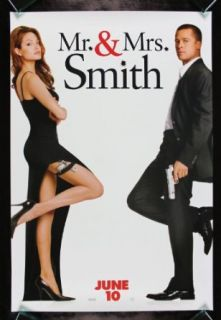 MR & MRS SMITH * CineMasterpieces BRAD PITT ANGELINA JOLIE ORIGINAL MOVIE POSTER Entertainment Collectibles