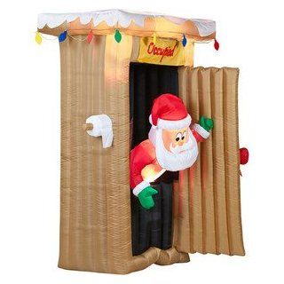 6ft Airblown Santa Claus Outhouse Inflatable   Holiday Figurines