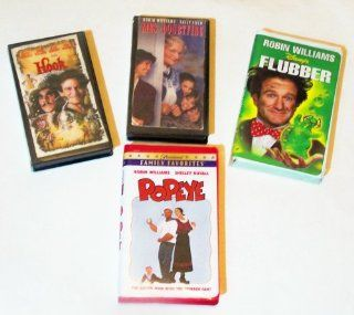 Robin Williams Video Collection 4 pk: Hook, Flubber, Mrs. Doughtfire, Popeye: Robin Williams, Sally Field, Julia Roberts, Bob Hoskins, Shelley Duvall: Movies & TV