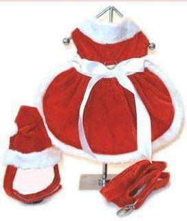 Dog Dress   Mrs. Claus Santa Girl Dog Christmas Dress w/ Matching Hat & Leash   XX Large (XXL) : Pet Dresses : Pet Supplies