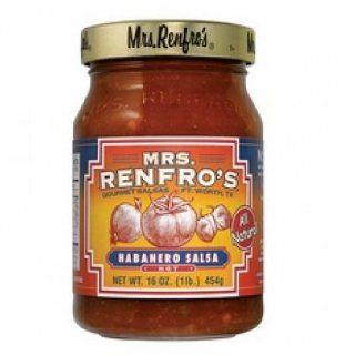 Mrs Renfro's Hot Habanero Salsa (6x16Oz )  Grocery And Gourmet  Grocery & Gourmet Food
