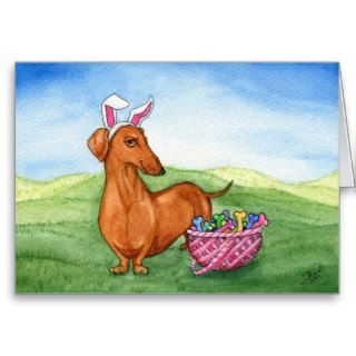 Funny Easter Dachshund Card
