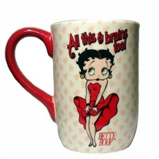 Brains Too Betty Boop Mug: Kitchen & Dining