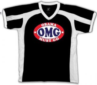 OMG Obama Must Go Mens Anti Obama Sports T shirt, Funny Trendy Political Anit Obama Men's Sport Shirt Clothing