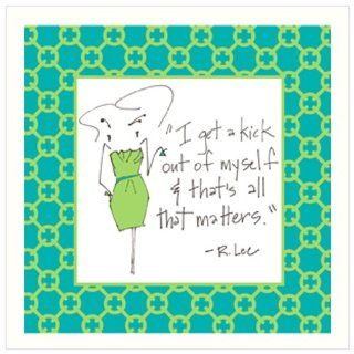 """CoasterStone SQ01637 Absorbent Coasters, 4 1/4 Inch, """"Kick Out of Myself"""", Set of 4: Kitchen & Dining"""