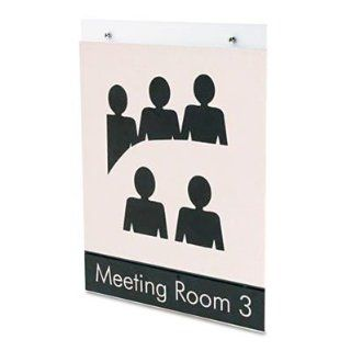 "Deflect O Corporation Products   Wall Mount Sign Holder, Pre Drilled, Portrait, 8 1/2""x11"", CL   Sold as 1 EA   Wall mountable sign holder saves counter space. Predrilled holes make wall mounting easy. Sign holder is designed to protect your sign"