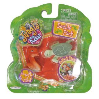 Jungle in My Pocket Double Pack Sassy Snake & Tuttle Turtle: Toys & Games