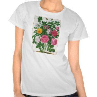 Vintage Blooming Flowers, Spring Garden Roses Tee Shirt