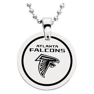 Stainless Steel Atlanta Falcons Name Logo Necklace: Jewelry