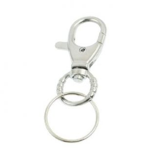 Trigger Lobster Clip Clasp Snap Hook Keyring Key Chain Silver Tone Clothing