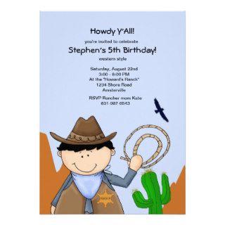 County Sheriff Birthday Party Invitation