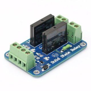 SainSmart 5V 2 Channel Solid State Relay Board for Arduino Uno Duemilanove MEGA2560 MEGA1280 ARM DSP PIC : Car Electronics