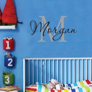 Morgan Wall Decal Childrens Personalized Name   Childrens Wall Art   Boys Name Wall Decal   Monogram   Nursery Decor   Wall Decor Stickers