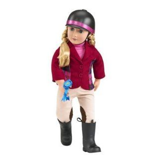 "Our Generation Lily Ana RED RIDING OUTFIT and ""Adventures at Shelby Stables"" 18"" Poseable Doll: Toys & Games"
