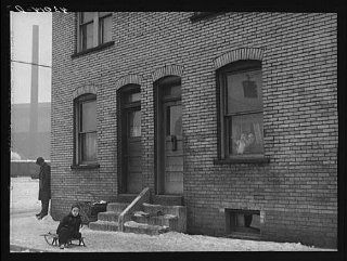 Photo: Workers' houses near Pittsburgh Crucible Steel Company in Midland, Pennsylvania   Prints