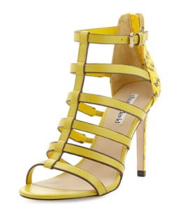Idealize Snakeskin Strappy Sandal, Yellow   Charles David