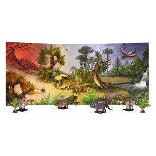 Toy / Game Discovery Post Dinosaur Magnet Board Diorama Nearly 3' Long   For Hours Of Learning & Imaginary Play: Toys & Games