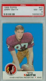 1969 Topps Football 45 Jerry Smith Redskins PSA 8 Near Mint to Mint at 's Sports Collectibles Store