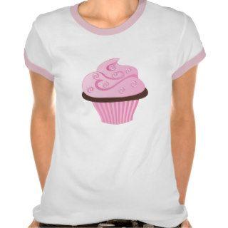Pink Swirl Cupcake with Sprinkles Tshirts