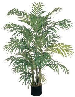 Nearly Natural 5001 Areca Decorative Silk Palm Tree, 4 Feet, Green   Artificial Trees