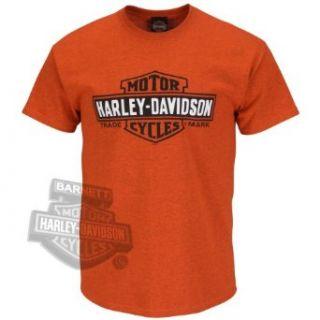 Harley Davidson Mens Helmet Necessary Orange Short Sleeve T Shirt (X Large) Clothing