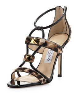 Venus Studded Combo Sandal   Jimmy Choo   Natural/Black (41.0B/11.0B)