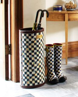 Courtly Check Umbrella Stand   MacKenzie Childs