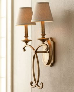 Rustic Bronze Sconce   John Richard Collection
