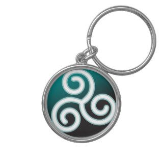 Triskele Celtic Spiral Key Chains